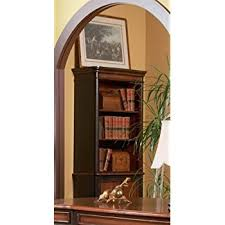 amazon com bookcase in two tone warm brown finish kitchen u0026 dining