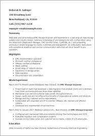 Sample Resume With Summary by Emc Implementation Engineer Sample Resume Haadyaooverbayresort Com