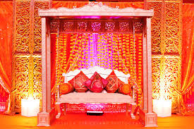 Indian Wedding Planners Nj Stage And Swing At Hindu Indian Wedding Sangeet In Columbus Ohio