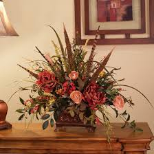home decor silk flower arrangements silk flowers wildflowers with pheasant feathers ar218 90 faux silk