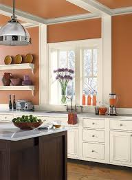 kitchen paints colors ideas orange kitchen ideas warm balanced kitchen space paint color