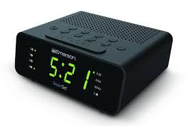 sony clock radio manual amazon com emerson cks1800 smartset alarm clock radio with am fm