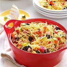 recipes for pasta salad california pasta salad recipe taste of home