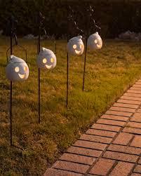 set of 2 outdoor lit jack o u0027 lanterns balsam hill