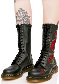 dr martens womens boots nz dr martens vonda embroidered 14 eye boots dolls kill