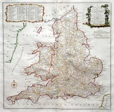 Map Of England And Wales Antique Maps Of The British Isles