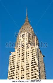 details of the art deco chrysler building in new york stock photo