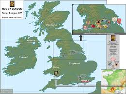 Map Of England And France by Super League Xiv Guinness Premiership 2009 10 And The Magners