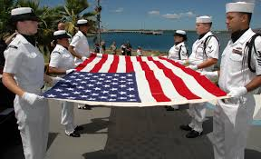 A American Flag Pictures File Us Navy 080819 N 7974m 004 Sailors Fold An American Flag