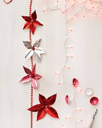 foil poinsettia garland cuttings metals and crafts