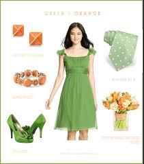 bridesmaid dresses orange and green wedding dress shops