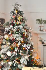 winter forest tree and how to a flocked tree