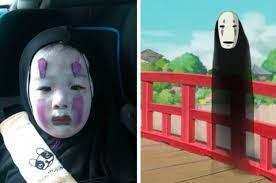 Little Girl Face Meme - little girl went as a spirited away character for halloween and