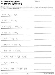 balancing chemical equations worksheet middle worksheets