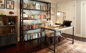 bookcase wood and metal bookcase industrial metal wood bookcase