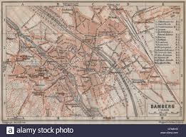 Bamberg Germany Map by Bamberg Antique Town City Stadtplan Bavaria Karte Baedeker 1913