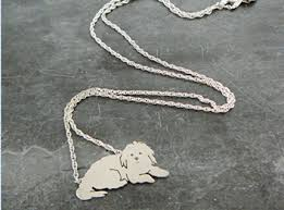 mothers day necklace personalized dog pendant necklace custom pet portrait silver maltese
