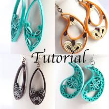 quilling designs tutorial pdf tutorial for paper quilled jewelry pdf paisley and teardrop earrings