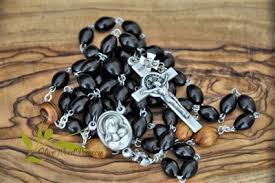 hematite rosary hematite rosary with olive wood handmade holy land