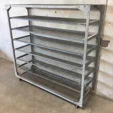Bakers Rack Shelves Antique Industrial Steel Bakers Rack U2013 Urbanamericana