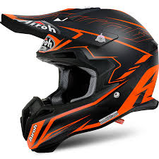 lightweight motocross helmet new airoh 2017 mx terminator 2 1 slim matte orange black motocross