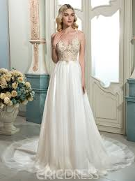 Wedding Dresses With Straps Ericdress Beautiful Spaghetti Straps Beaded A Line Wedding Dress