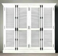 White Shutter Closet Doors Plantation Shutter Closet Doors White Louvered Closet Doors