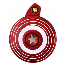 captain america shield light target captain america s shield style cigar lighter fidget spinner w led
