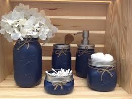 Mason Jar Bathroom Set Mason Jars Bathroom Decor Bridal Shower