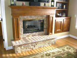 Oak Electric Fireplace Cool Stacked Stone Electric Fireplace Suzannawinter Com