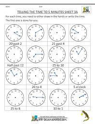 telling time worksheets 2nd grade worksheets