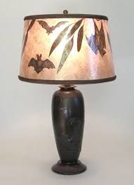 Vintage Table Lamp Shades Bats Antique Table Lamp And Mica Lamp Shade With Bat Design