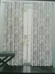 new tahari floral jacobean 2 curtains window panels medallion gray