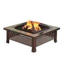 amazon com pleasant hearth bradford square natural slate 34 inch