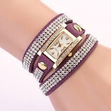 silver bracelet watches images Women leather strap quartz ladies crystal bow bracelet chain charm jpg