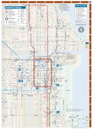 Chicago Redline Map by Chicago Downtown Metro System Map U2022 Mapsof Net