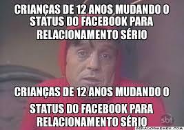 Status Meme - crianças de 12 anos mudando o status do facebook para relacionamento