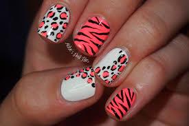 zebra pattern nail art animal print nail art design idea with zebra and cheetah pattern