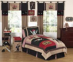 Pirate Ship Bed Frame Pirate Bedding For Boys Twin Comforter Set With Skulls Ships Brown