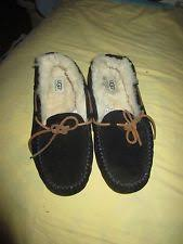 ugg s roni shoes black ugg australia suede medium b m 7 5 slippers for ebay