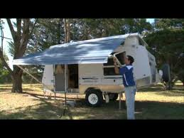 Jayco Bag Awning Goldstream Rv Pop Top Setting Up Awning Youtube
