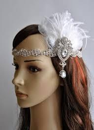 great gatsby headband rhinestone flapper 1920s headpiece rhinestone bridal