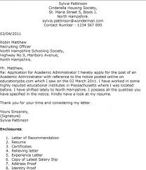 awesome collection of example cover letter academic position in