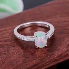 opal rings wholesale images Natural fire opal ring genuine solid 925 sterling silver women jpg