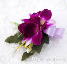 flower corsage 2018 purple wedding groom flower corsage fascinator flower corsage