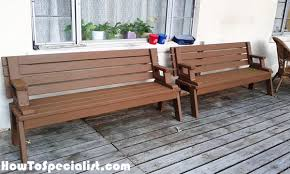 Foldable Picnic Table Bench Plans by Diy Picnic Table Bench Howtospecialist How To Build Step By
