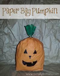 paper bag pumpkin simply brittany
