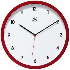 cirrus red wall clock cool clocks com