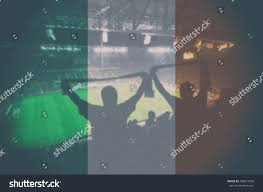 Irish Flag Vs Italian Flag Euro 2016 Stadium Blending Ireland Flag Stock Photo 409619950