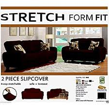 amazon com stretch form fit 3 pc slipcovers set couch sofa